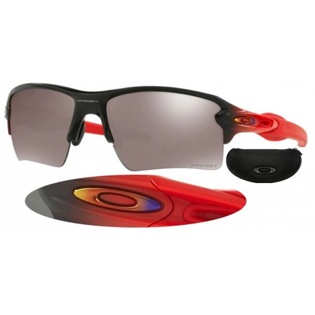 772c9638e53cc Flak 2.0 XL Matte Black Fade Ruby   Prizm Black Polarized (OO9188-66)