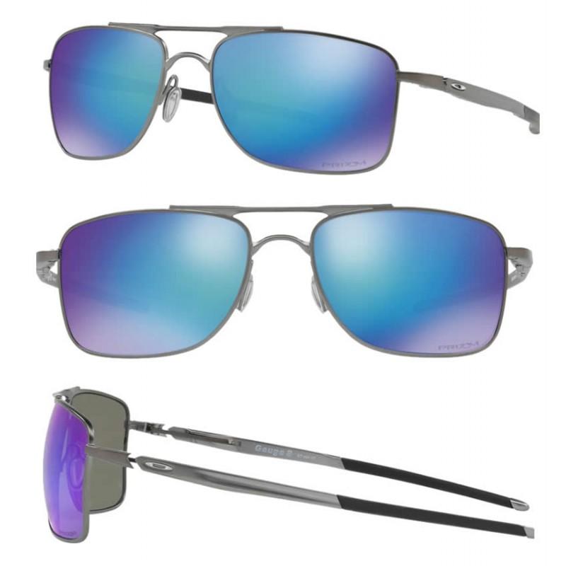 fc8ae78554 Sunglasses Gauge 8 Matte GunMettal   Prizm Sapphire Polarized (OO4124-06)