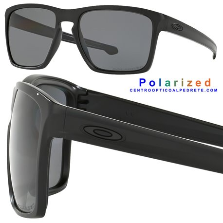 613aa96788 Sunglasses Oakley Sliver XL Matte Black   Grey Polarized (OO9341-01)
