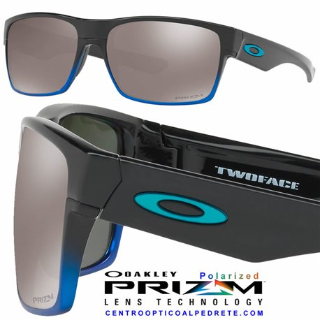 TwoFace Blue Pop Fade / Prizm Black Polarized (OO9189-39)