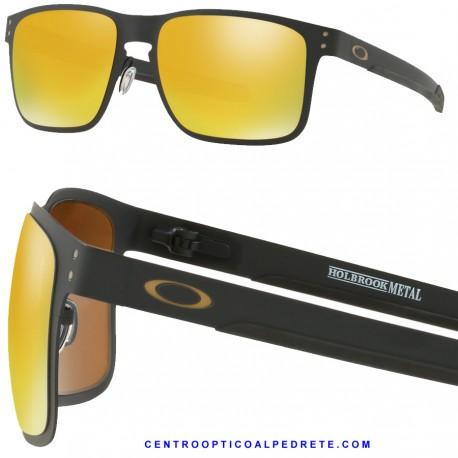 3721fc3d75 Sunglasses Oakley Holbrook Metal Matte Black / 24K Iridium (OO4123-13)