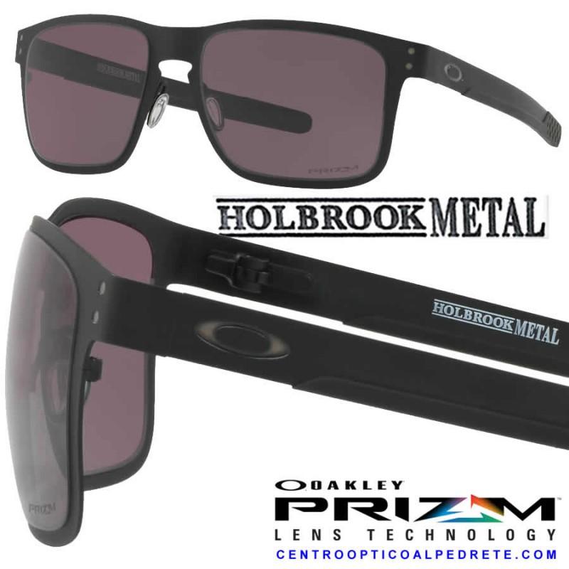 40061117d77 Sunglasses Holbrook Metal Matte Black   Prizm Grey (OO4123-11)