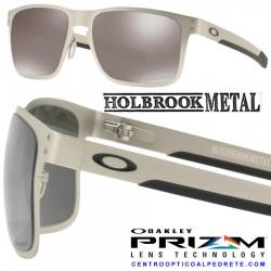 Holbrook Metal Satin Chrome / Prizm Black Polarized (OO4123-09)