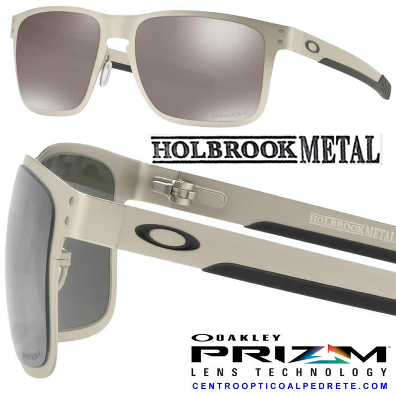 fb7b697118458 Sunglasses Oakley Holbrook Metal Satin Chrome   Prizm Black Polarized  (OO4123-09)