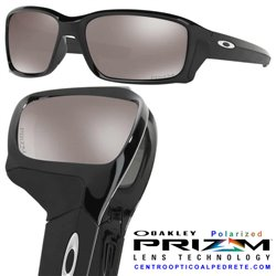 StraightLink Polished Black / Prizm Black Polarized OO9331-16