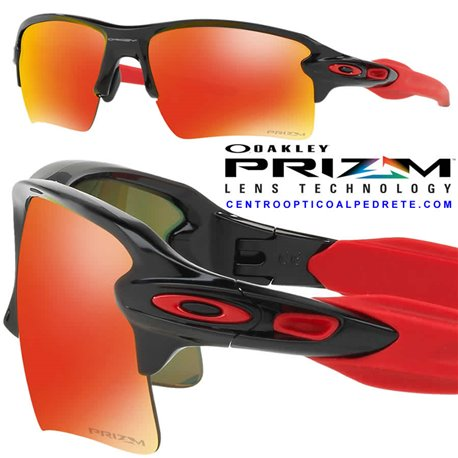 12df3b699a7 Oakley sport sunglasses Flak 2.0 XL Polished Black   Prizm Ruby ...