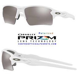 Flak 2.0 XL Polished White / Prizm Black Polarized (OO9188-76)