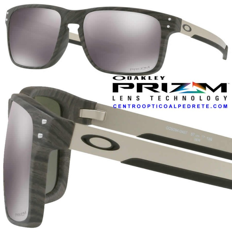 62a7c366ce2 Sunglasses Oakley Holbrook Mix WoodGrain   Prizm Black (OO9384-04)