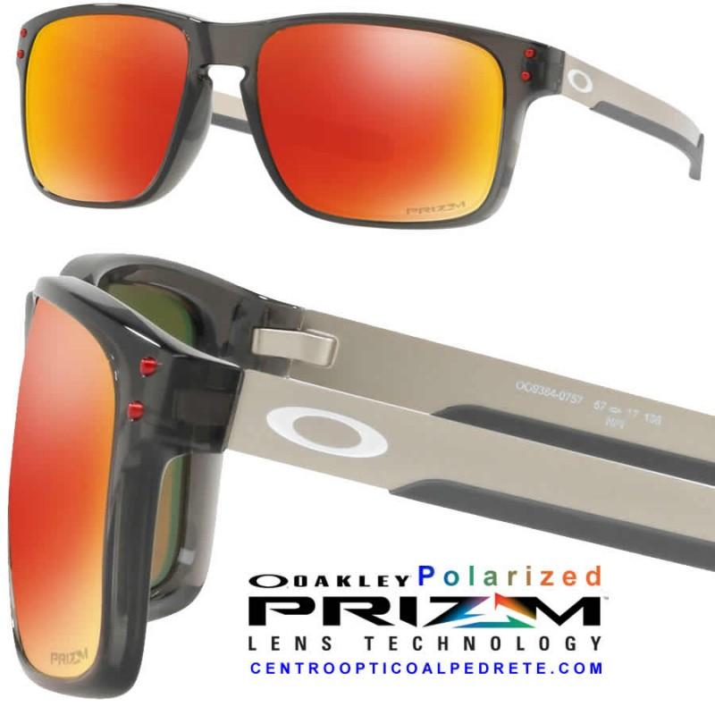 a37339ef9af2 Sunglasses Oakley Holbrook Mix Grey Smoke   Prizm Ruby Polarized ...