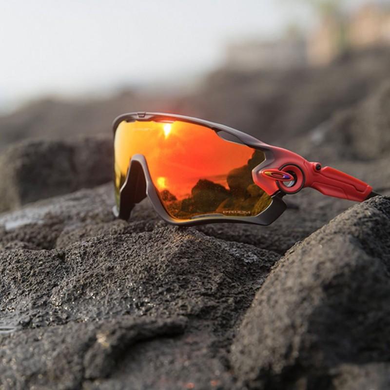 057aa640d Oakley sport sunglasses Jawbreaker Matte Black Fade   Prizm Ruby ...
