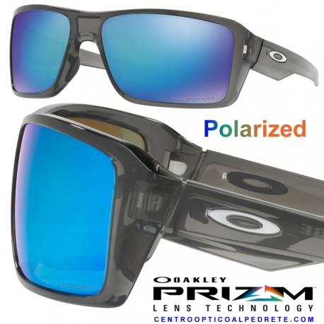 a721436fa4 Oakley sunglasses Double Edge Grey Smoke   Prizm Sapphire Polarized ...