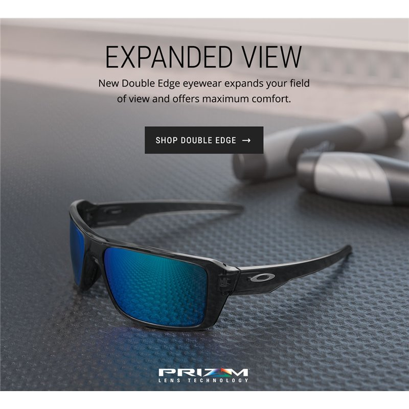 3bb391658d Oakley sunglasses Double Edge Grey Smoke   Prizm Sapphire Polarized ...
