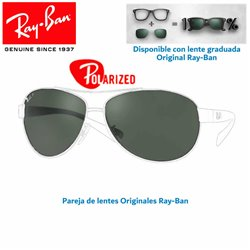 Lentes de repuesto Ray-Ban Aviator Large Metal / Lente Green Polarized (RB3025-001/58)