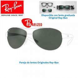 Lentes de repuesto Ray-Ban Aviator Large Metal / Lente Green Polarized (RB3025-001/58)
