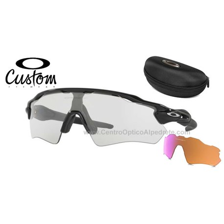 30f2f84806d Sunglasses Oakley Radar EV Path Custom Polished Black   Clear Black Iridium  Photochromic (OO9208-6521)