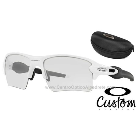 583d562ca0 Flak Jacket 2.0 XL Polished White   Clear Black Iridium Photochromic (OO9188 -51)