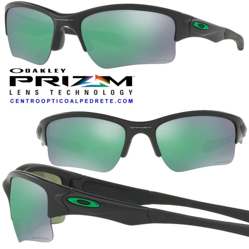 08b1c7f73a8e8 Sunglasses Oakley Quarter Jacket Matte Black   Prizm Jade (OO9200-24)